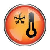 Snowflake with thermometer icon — Stock Photo