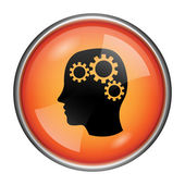 Brain icon — Stock Photo