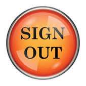 Sign out icon — Stock Photo