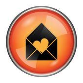 Send love icon — Stock Photo