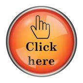 Zde klikněte na ikonu — Stock fotografie