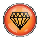 Icono de diamante — Foto de Stock