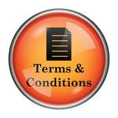 значок термины и условия — Стоковое фото