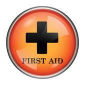 значок первой помощи — Стоковое фото