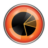 Chart pie icon — Stock Photo
