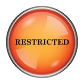 Restricted icon — Foto Stock
