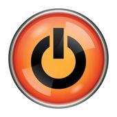 Ikona tlačítka napájení — Stock fotografie