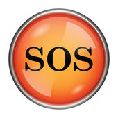 SOS icon — Foto Stock
