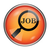 Search for job icon — Stock Photo