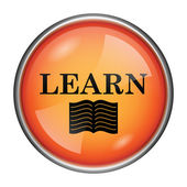 Aprender o ícone — Foto Stock