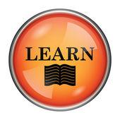 Učit se ikona — Stock fotografie