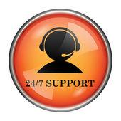 24-7 поддержки значок — Стоковое фото