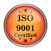 ícone de iso9001 — Foto Stock