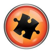 Puzzle piece icon — Stock Photo