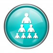 Organizational chart with people icon — Stock Photo #40139507