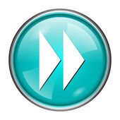 Fast forward sign icon — Stock Photo