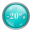 Stock Photo: 20 percent discount icon
