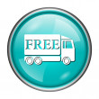 Stock Photo: Free delivery truck icon