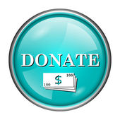 Donate icon — Stok fotoğraf