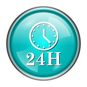 24H clock icon — Stock Photo