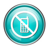 Mobile phone restricted icon — Foto Stock