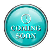 Coming soon icon — Stok fotoğraf