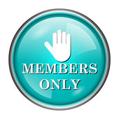 Members only icon — Foto Stock
