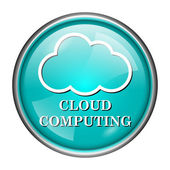 Cloud computing icon — Stock Photo