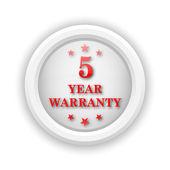 5-Jahres-Garantie-Symbol — Stockfoto