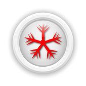 ícone de floco de neve — Foto Stock