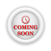 Coming soon icon — Stock Photo