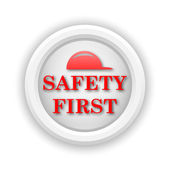 Safety first icon — Stock Photo