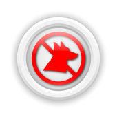 Forbidden dogs icon — Stock Photo