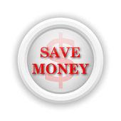 Save money icon — Stock Photo