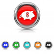 Save money icon - six colours set — Stockvector