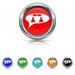 Chat icon - six colours set - men in bubble — Stock Vector
