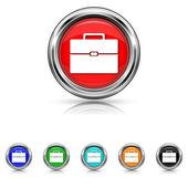 Set di sei colori icona sincronia file — Stockvektor