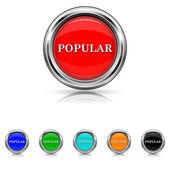 Popular icon - six colours set — Stock Vector