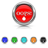 Oops icon - six colours set — Stock Vector