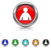 User profile icon - six colours set — Stock Vector