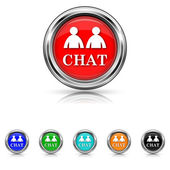 Chat icon - six colours set — Stock Vector