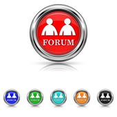 Forum icon - six colours set — Stock Vector