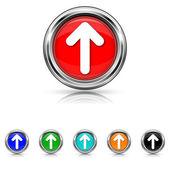 Up arrow icon - six colours set — Stock Vector