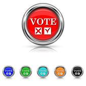 Vote icon - six colours set — Stock Vector
