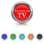 Como se ve en el icono de tv - 6 colores set — Vector de stock