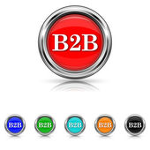 B2B icon - six colours set — 图库矢量图片