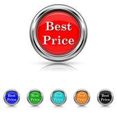 Best price icon - six colours set — Stock Vector