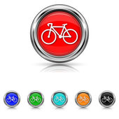 Bicycle icon - six colours set — Stock Vector