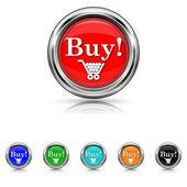 Buy icon - six colours set — Stock vektor