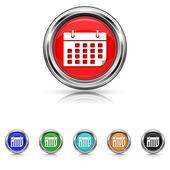 Calendar icon - six colours set — Stock Vector